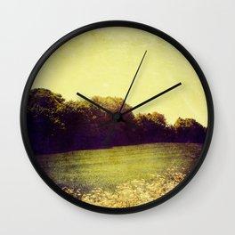 Summer Hills Blues Wall Clock