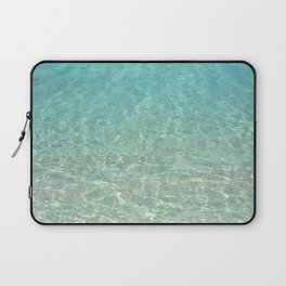 Colors of the Sea Water - Clear Turquoise Laptop Sleeve