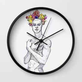 bacchus as a boy Wall Clock