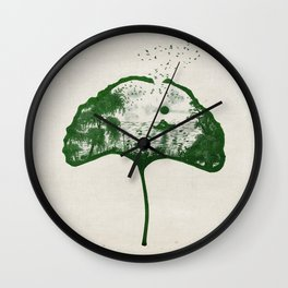 Love on the Lake Wall Clock