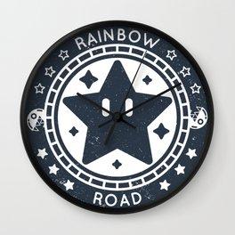 Rainbow Road (Mario Kart 64) Wall Clock