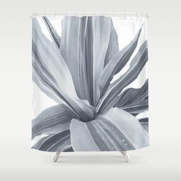 Grey Leaves Movement. nature, soft, decor, art, black-and-white, leaves, leaf, society6 Shower Curtain