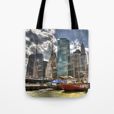 NYC Harbor, south seaport Tote Bag
