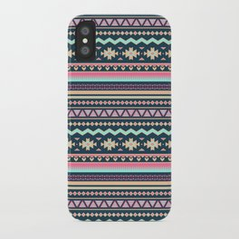 Colorful Aztec Tribal Pattern iPhone Case