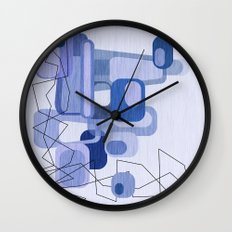 Feeling Blue. Wall Clock