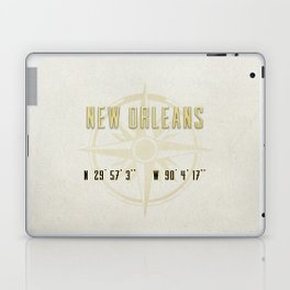 New Orleans - Vintage Map and Location Laptop & iPad Skin