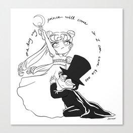 Sailor Moon Don't Need No Man Canvas Print