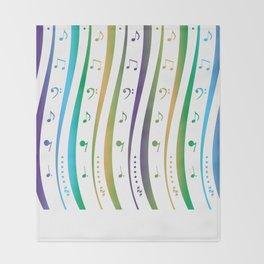 Seamless music notes pattern Throw Blanket