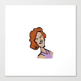 MARIE-SOLANGE / la voix de Villeray / En tout cas. Canvas Print