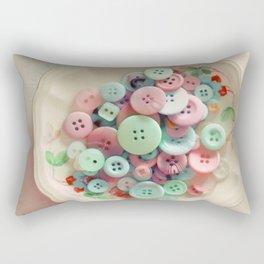 Bowl of Buttons Rectangular Pillow