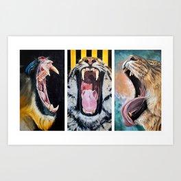 Sarah Smith Paintings Trio Art Print