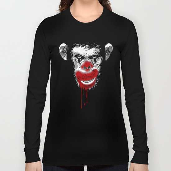 Evil Monkey Clown Long Sleeve T-shirt