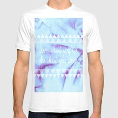 Love what you do, Do what you Love. - TWO MEDIUM White Mens Fitted Tee