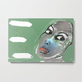 Lady Green Metal Print