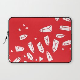 White Crystals on Red Laptop Sleeve