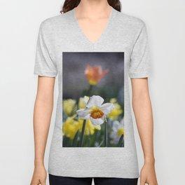 Demure Daffodil Unisex V-Neck