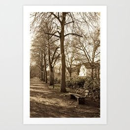 A lonely world Art Print