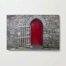 Red Door Galway, Ireland Metal Print