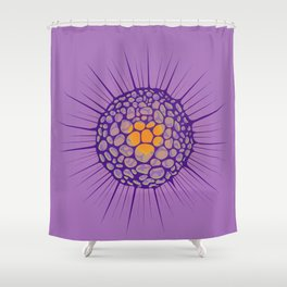funky sea ​​urchin with heart Shower Curtain
