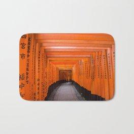 Japan Travel Photo - Fushimi Inari Shrine Bath Mat