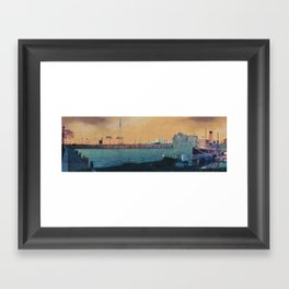 Broadway City Pier, Baltimore, MD Framed Art Print