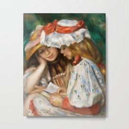 Pierre-Auguste Renoir - Two Girls Reading Metal Print