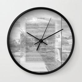 Desiderata on Kismet Wall Clock