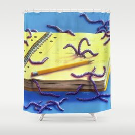 Go Eat Worms Shower Curtain