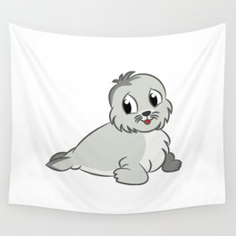 Cute Baby Seal Wall Tapestry