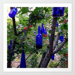 When Blue Bottles Fly Art Print