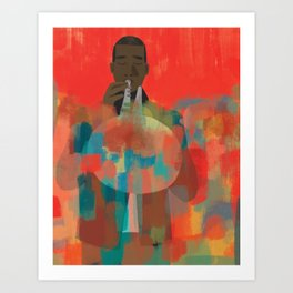 Man with Trumpet Art Print