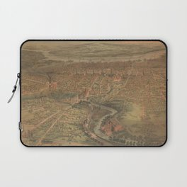 Vintage Pictorial Map of Hartford Connecticut (1864) Laptop Sleeve