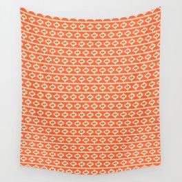 Aztek floral orange 2 Wall Tapestry