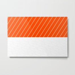 Simple Salmon Sushi Metal Print