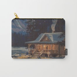 Blue Aurora Nights Carry-All Pouch