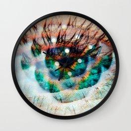 Green Eyes Hypnotize Wall Clock