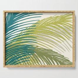 Palm Silhouette Series - Hawaiian Greenery Palette Serving Tray