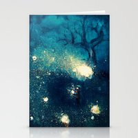 fireflies Stationery Cards featuring Fireflies by Morgan Ofsharick - meoillustration