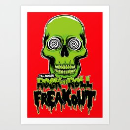13th Annual Rock and Roll Freakout Art Print