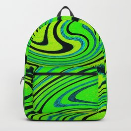 Lemon Lime Groove Watercolor Backpack
