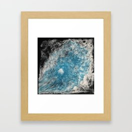 Pearl Blue Mist Framed Art Print