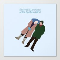 eternal sunshine of the spotless mind Canvas Prints featuring Eternal Sunshine of the Spotless Mind by bonieiji