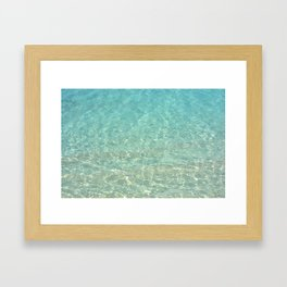 Colors of the Sea Water - Clear Turquoise Gerahmter Kunstdruck