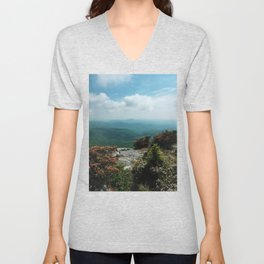 Blue Ridge Mountains Unisex V-Neck