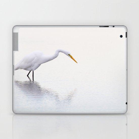 Stalking Egret Laptop & iPad Skin