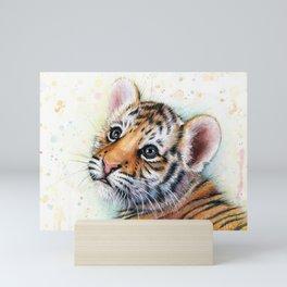 Tiger Cub Watercolor Mini Art Print