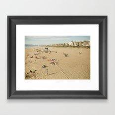 Manhattan Beach Framed Art Print