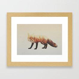 Veluwe V2: Fox Framed Art Print