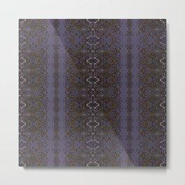 Mulled Wine Purple, Vanilla & Ginger Rustic Filigree Stitch Lace by artestreestudio Metal Print