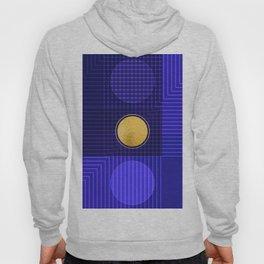 Moonlight Abstract Blue Hoody